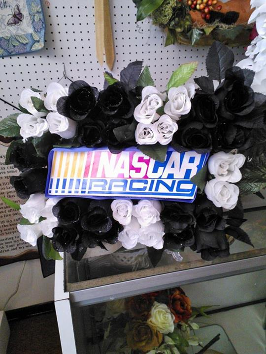 Nascar Funeral Flowers by Wilma's Flowers, Jasper AL