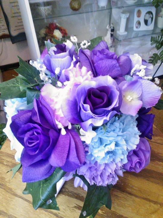 Purple wedding bouquet by Wilma's Flowers, Jasper AL