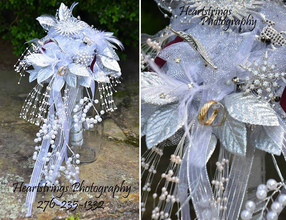 Silver broach bouquet by Personal Touch Florist, Galax VA