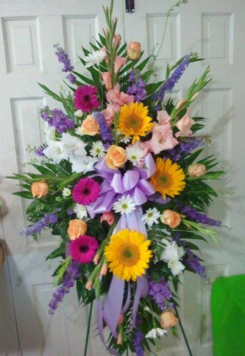 Summer sympathy tribute by Cottage Flowers, Pasadena TX