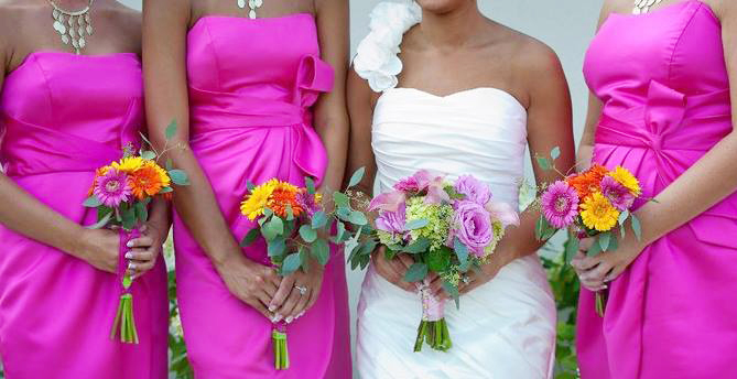Summer Wedding Flowers by Personal Touch Florist, Troy OH