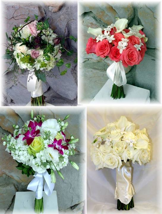 Wedding Bouquet Collage by MaryJanes Flowers in Berlin NJ