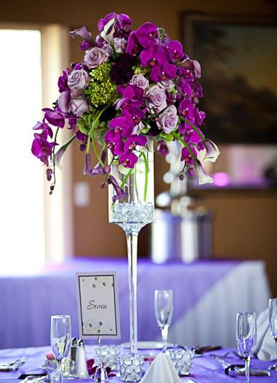 wedding reception arrangement by Monday Morning Flowers in Princeton NJ