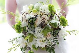 Butterflies and Bridal Bouquet by Expressions Flowers in Fort Smith AR