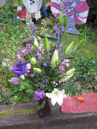 A wonder of Purple and White Bouquet by Alicia's Wonderland in Renton, WA