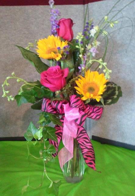 Zebra flowers by Cottage Florist, Riverview FL