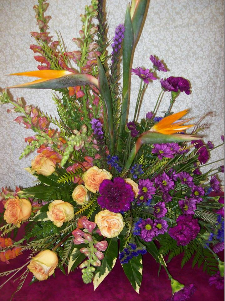 Orange and Purple Mix by Colonial Flowers