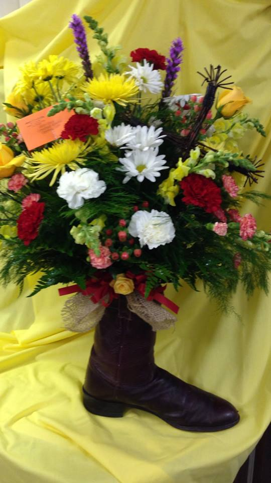 A creative arrangement from Michele's Floral and Gifts in Copperas Cove, TX