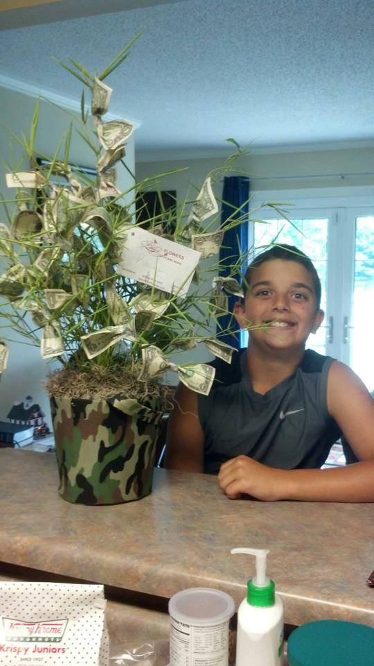 A money tree from Libby's Flowers Gifts & More in Elberton, GA