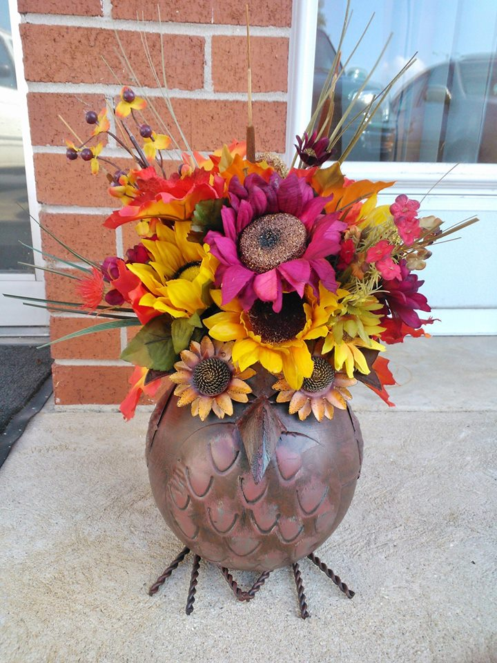 A sunflower arrangement from Wilma's Flowers in Jasper, AL