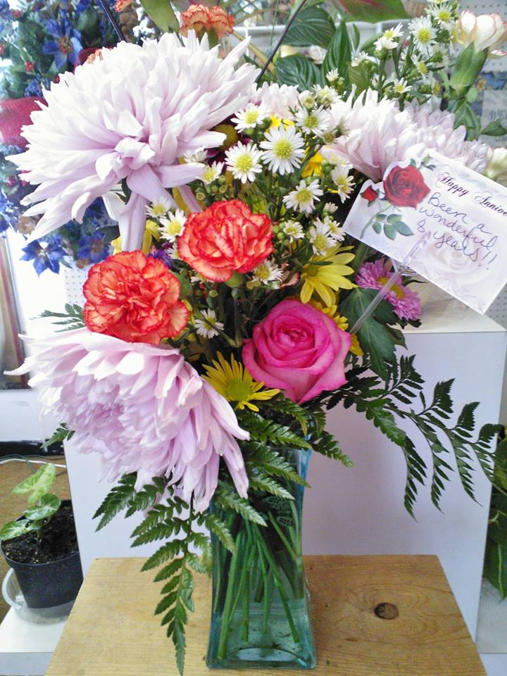 Anniversary arrangement from Wilma's Flowers in Jasper, AL