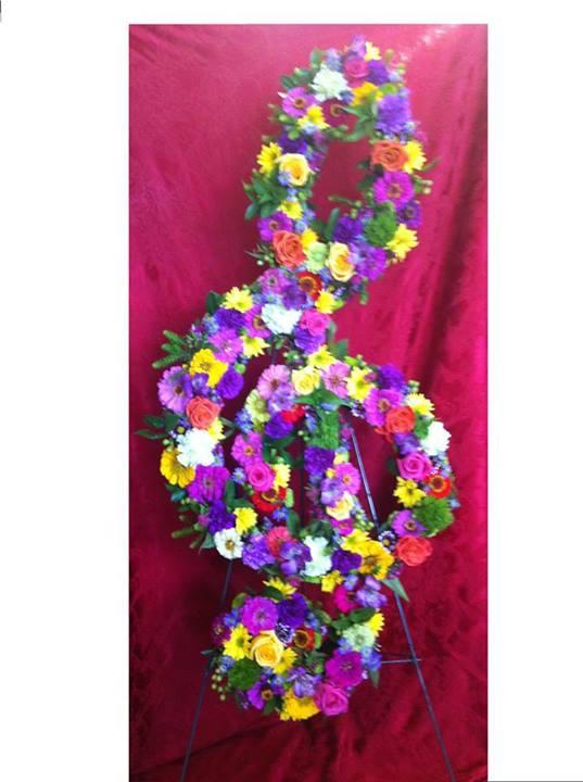 Treble Cleft Floral Arrangement