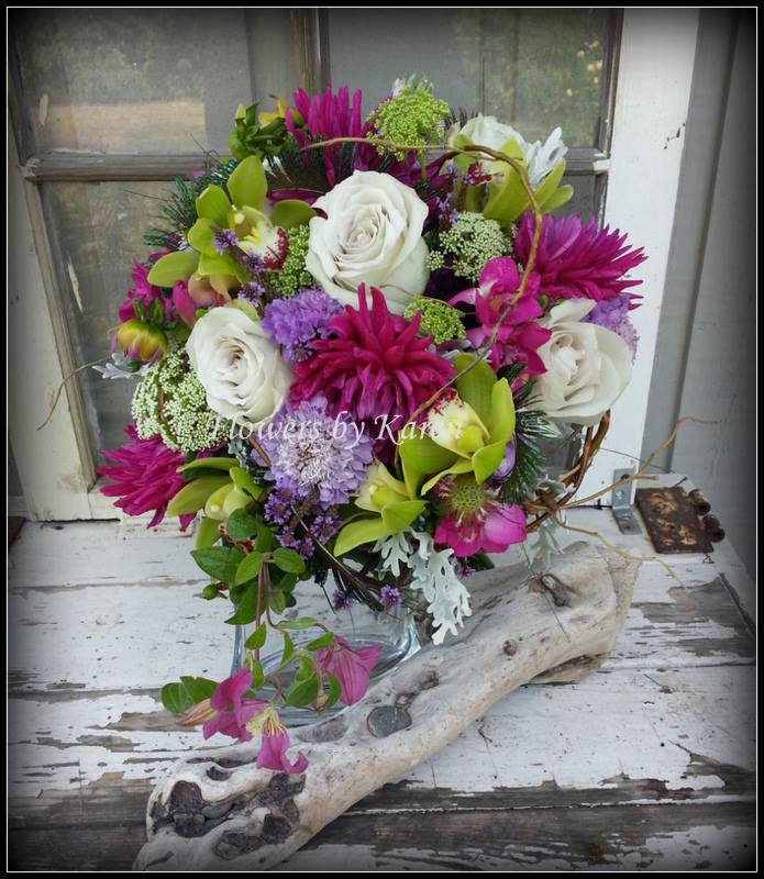 Bridal bouquet from Flowers by Karen in Monroe, WA