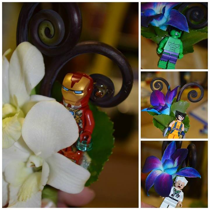 Super Hero Lego Boutonnieres by Monday Flowers