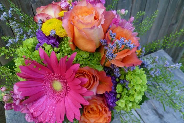 Bright and Vibrant Wedding Bouquet Paisley Floral Design Studio