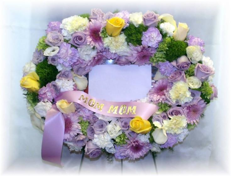 Purple Mom Wreath by MaryJane's Flowers
