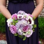 Purple Brides Bouquet by Monday Flowers