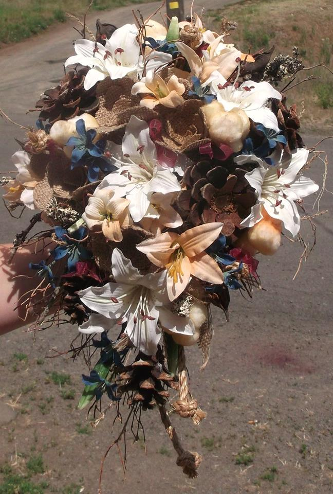 Rustic Bride's Bouquet by A1 Flowers
