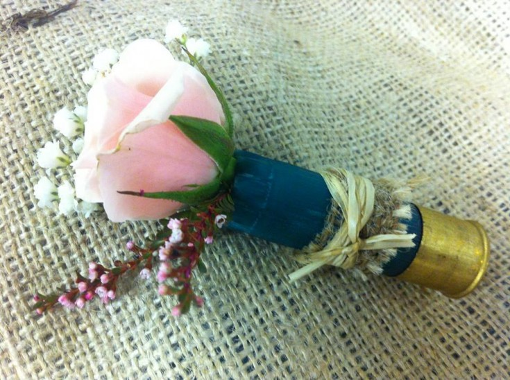 Shotgun Boutonniere from The Flower Shop in Pryor, OK