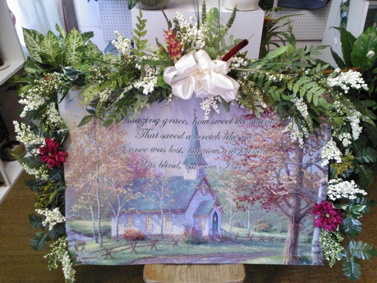 Painting with Swag by Wilma's Flowers