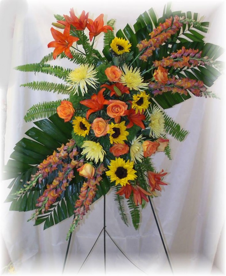 Tropical Standing Spray by Mary Jane's Flowers