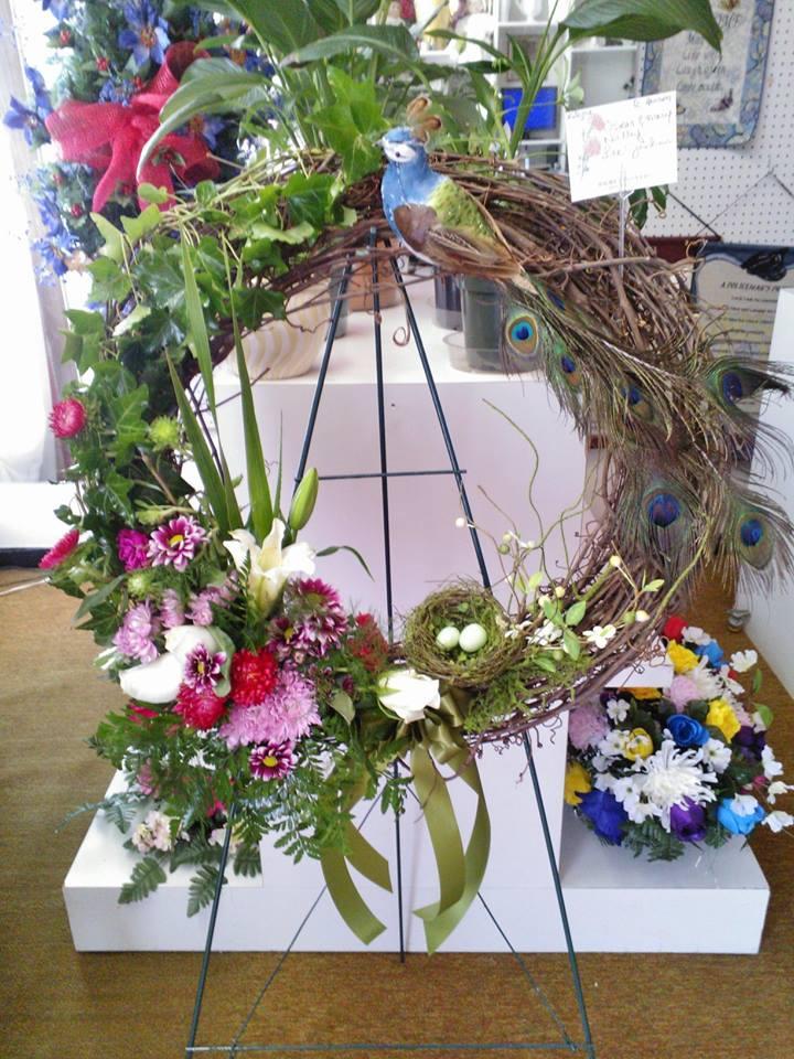 Bird Wreath by Wilma's Flowers