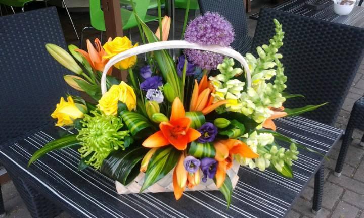 A Floral Basket by Fleurtations Floral Designs, Upminster, UK