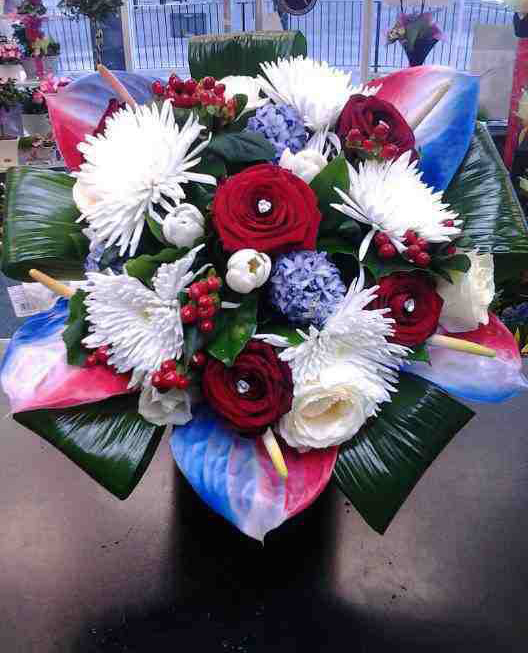 Red White and Blue Arrangement by Fleurtations Floral Designs, Upminster, UK