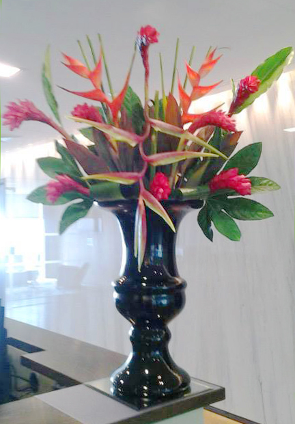 Tropical Arrangement by Fleurtations Floral Designs, Upminster, UK