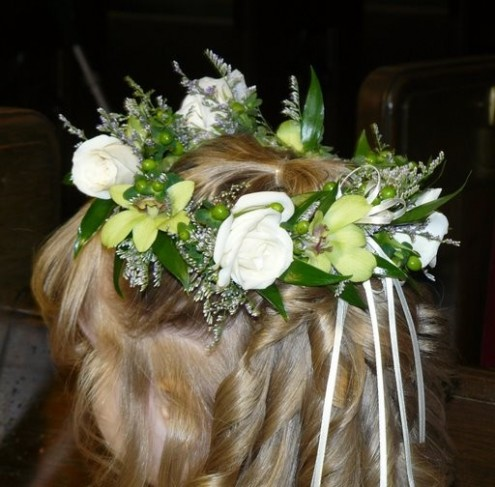 Flower Crown by A Towne Lake Florist