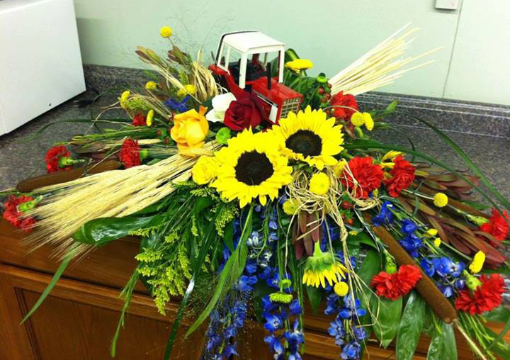 Farmer Funeral Spray by The Flower Shop, Pryor, OK