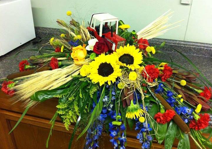 Farmer Funeral Spray by The Flower Shop, Pryor, OK