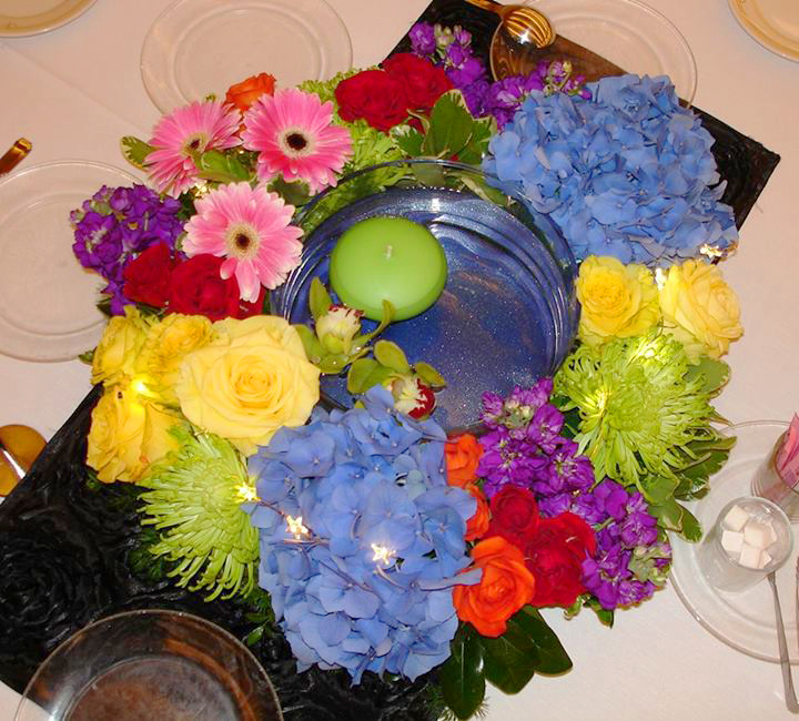 A Garden Party Centerpiece by The Petal Patch, LTD, McFarland, WI