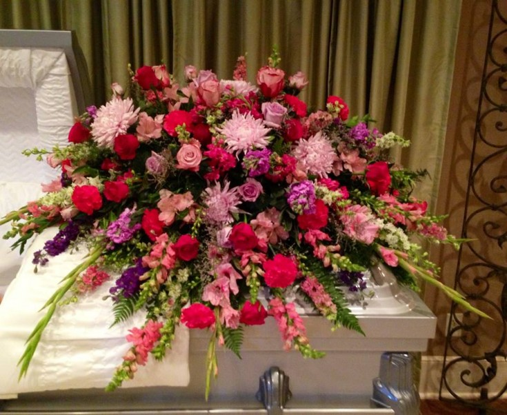 A gorgeous casket spray by Bartlett Floral Gallery in Bartlett, TN