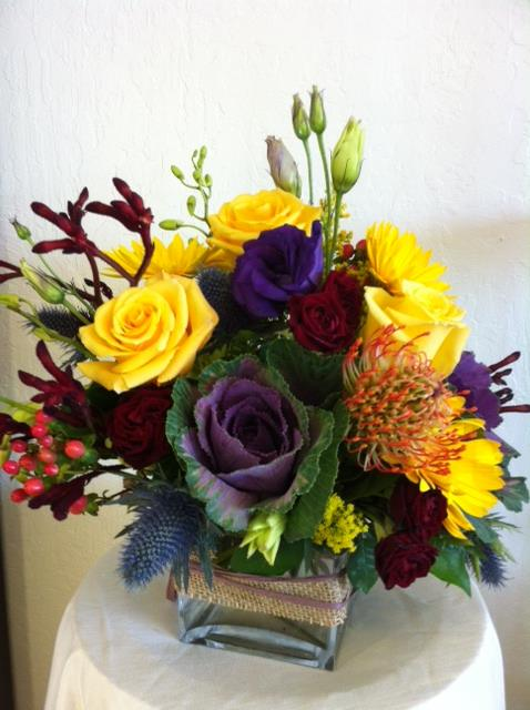 A lovely arrangement by Robyn Martin of Flowers & More in Fresno, CA