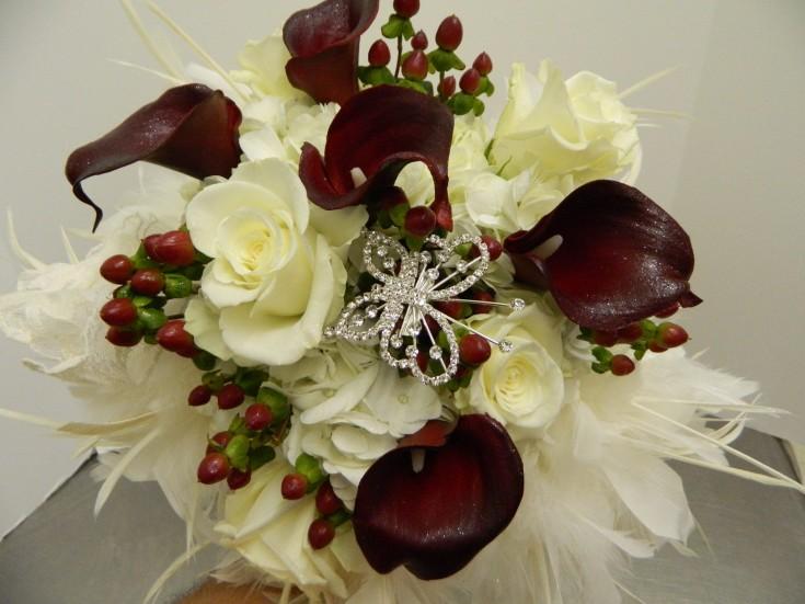 Dark Red Bride Bouquet - Bentley Florist