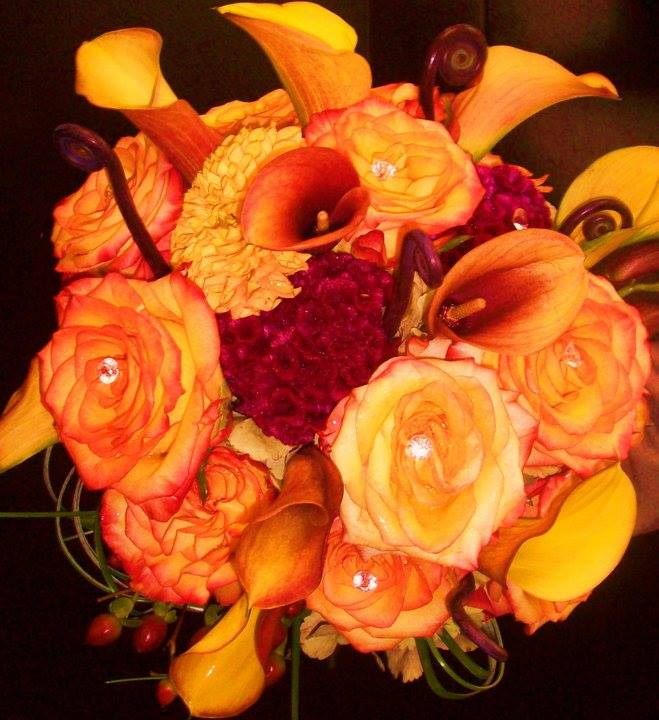 Fall wedding bouquet by Robyn at Flowers and More in Fresno, CA