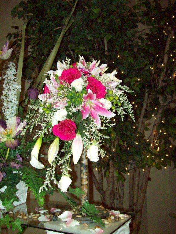 Floral cascade by Com-Patt-ibles Floral Elegance in Wooster, OH