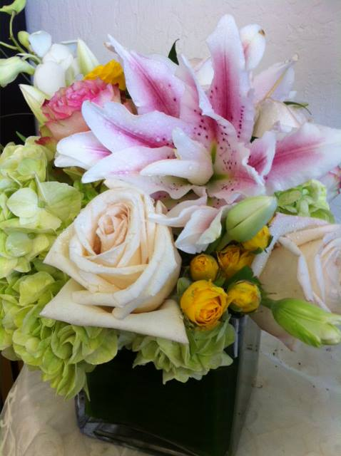 Modern vase arrangement from Flowers & More in Fresno, CA