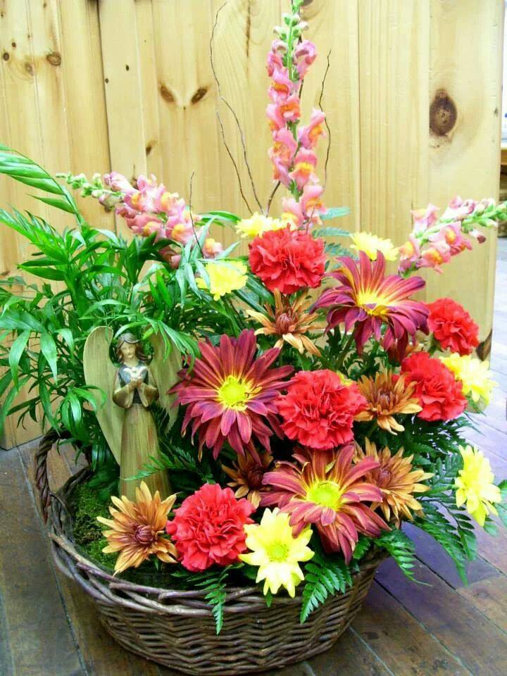Stunning funeral arrangement from Cole's Flowers Inc. in Middlebury, VT