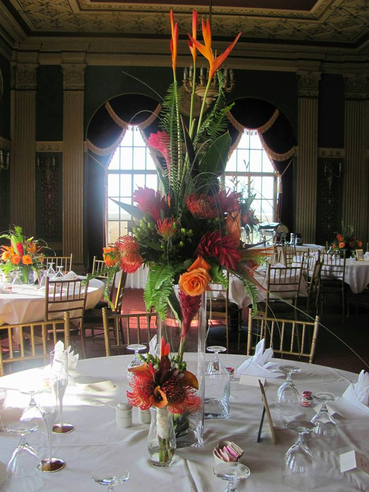 Tropical Centerpiece - County Flower and Herbs