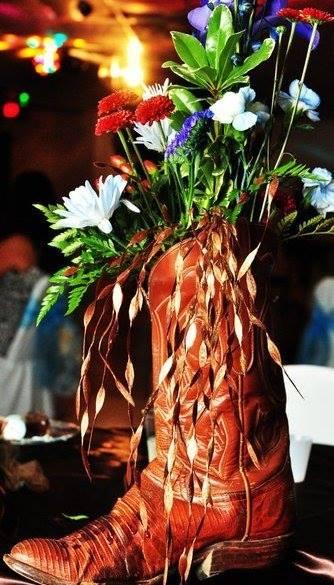 Wedding centerpiece by Cottage Flowers in Pasadena, TX
