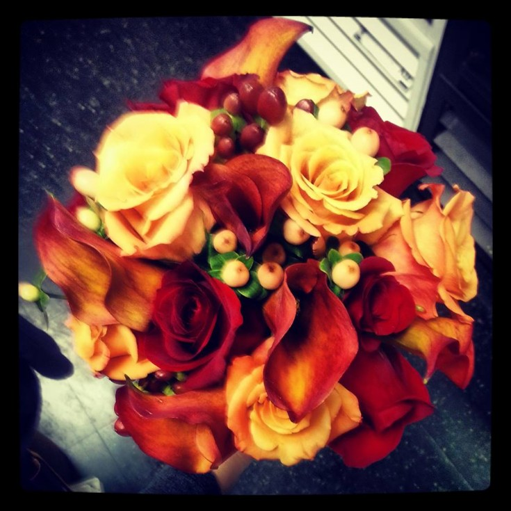 A fall bridal bouquet from Design House Floral in Clarkesville, GA