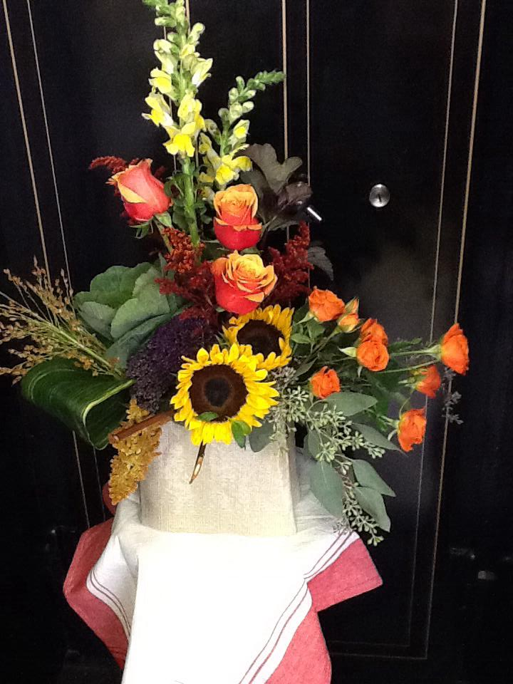 An autumn surprise from Tattered Leaf Designs Flowers & Gifts in Lyons, WI