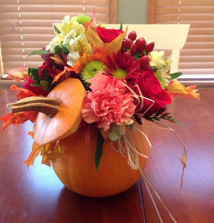 Beautiful fall arrangement from The Wild Flower in Arnoldsburg, WV