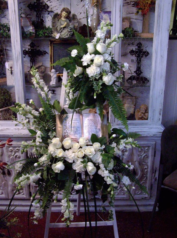 Beautiful standing spray from The Yellow Rose Florist in Olive Branch, MS