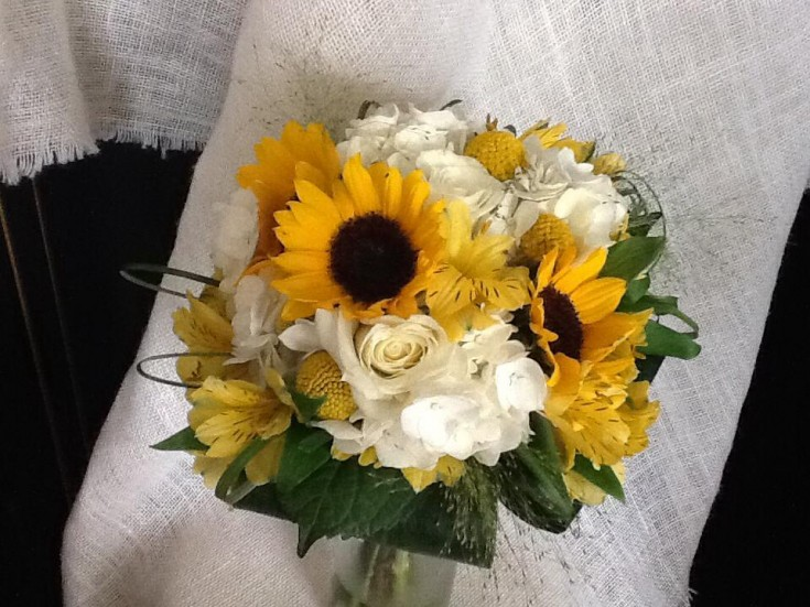 Bridal bouquet by Tattered Leaf Designs Flowers & Gifts in Lyons, WI