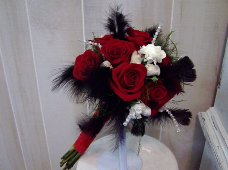 Elegant bridal bouquet from The Yellow Rose Florist in Olive Branch, MS