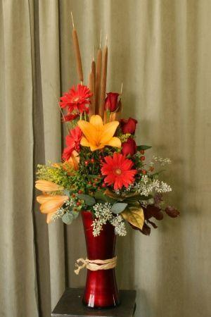 Fall arrangement by Gaia Flowers, Gifts and Art in Las Vegas, NV