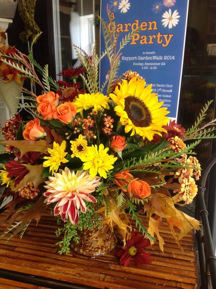 Fall arrangement fro Gatsby's Florist in Keyport, NJ